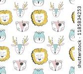 forest animal seamless pattern... | Shutterstock .eps vector #1185834253