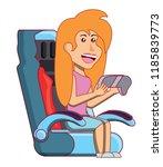 videogames and girl design | Shutterstock .eps vector #1185839773
