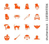 halloween icons isolated set...   Shutterstock .eps vector #1185845506