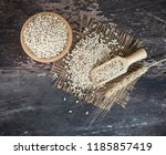 white sorghum isolated on... | Shutterstock . vector #1185857419