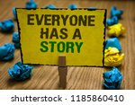 writing note showing everyone... | Shutterstock . vector #1185860410