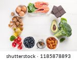 healthy food for brain and... | Shutterstock . vector #1185878893