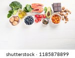 healthy food for brain and... | Shutterstock . vector #1185878899