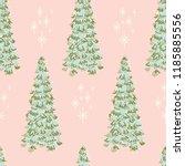 beautiful tall winter trees ... | Shutterstock .eps vector #1185885556