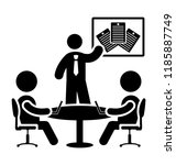 teacher teaching students...   Shutterstock .eps vector #1185887749