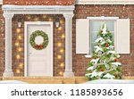 entrance to the house ... | Shutterstock .eps vector #1185893656