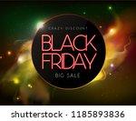 neon sign black friday big sale ... | Shutterstock .eps vector #1185893836
