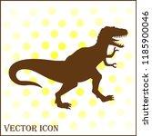 angry tyrannosaurus vector icon | Shutterstock .eps vector #1185900046