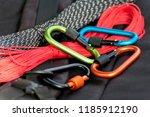 metal carabine for... | Shutterstock . vector #1185912190