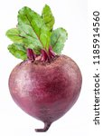 red beet or beetroot with green ... | Shutterstock . vector #1185914560