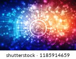 digital abstract technology... | Shutterstock . vector #1185914659