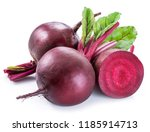 red beets or beetroots on white ... | Shutterstock . vector #1185914713