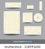 stationery design set | Shutterstock .eps vector #118591630