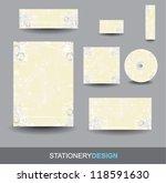 stationery design set | Shutterstock .eps vector #118591630