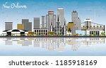 new orleans louisiana city... | Shutterstock .eps vector #1185918169