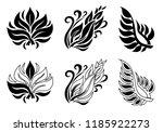 vector set of leafs design... | Shutterstock .eps vector #1185922273