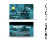 credit cards design | Shutterstock .eps vector #1185922393