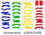 set of ribbon banners. blue... | Shutterstock .eps vector #1185923290