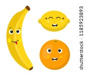 cartoon fruit characters... | Shutterstock .eps vector #1185923893