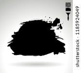black brush stroke and texture. ... | Shutterstock .eps vector #1185924049