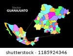 political map of mexico. colors | Shutterstock .eps vector #1185924346