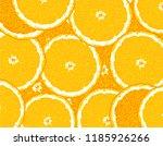 slices of sliced ripe oranges ... | Shutterstock .eps vector #1185926266