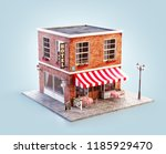 unusual 3d illustration of a... | Shutterstock . vector #1185929470
