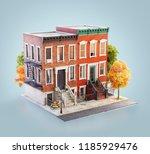 unusual 3d illustration of... | Shutterstock . vector #1185929476