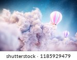 over the clouds. unusual 3d... | Shutterstock . vector #1185929479