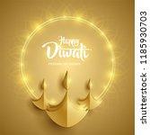 happy diwali. paper graphic of... | Shutterstock .eps vector #1185930703