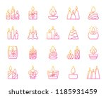 candle flame thin line icon set.... | Shutterstock .eps vector #1185931459