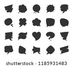 speech bubble icon set. web... | Shutterstock .eps vector #1185931483