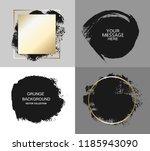 vector black paint  ink brush... | Shutterstock .eps vector #1185943090