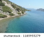 crystal clear water of aegean...   Shutterstock . vector #1185955279