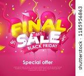 final sale. black friday banner ... | Shutterstock .eps vector #1185956863