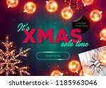 christmas sale vector... | Shutterstock .eps vector #1185963046