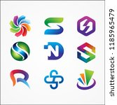 colorful logo collections vector | Shutterstock .eps vector #1185965479