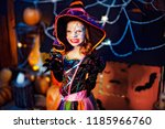 happy halloween. a little... | Shutterstock . vector #1185966760