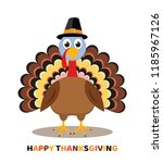 vector card for thanksgiving... | Shutterstock .eps vector #1185967126