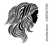 illustration of woman with... | Shutterstock .eps vector #1185967240