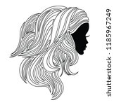 illustration of woman with... | Shutterstock .eps vector #1185967249