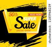 super sale poster | Shutterstock . vector #1185968239