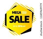 sale banner template design ... | Shutterstock .eps vector #1185969979