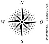 compass rose vector with german ... | Shutterstock .eps vector #1185972736