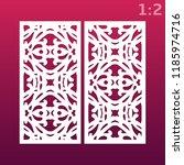 laser cut ornamental set panel... | Shutterstock .eps vector #1185974716