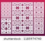 laser cut ornamental set panel... | Shutterstock .eps vector #1185974740