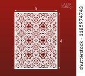 laser cut ornamental panel... | Shutterstock .eps vector #1185974743