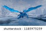 3d cg rendering of flying dragon | Shutterstock . vector #1185975259