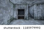3d cg rendering of abandoned... | Shutterstock . vector #1185979993