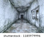 3d cg rendering of abandoned... | Shutterstock . vector #1185979996